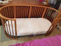 Stokke Sleepi Cot / Junior Bed & Mattress £250