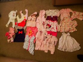 Lots of baby girls clothes. first sizes. LOOK . large lot. vgcc