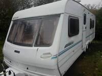 Lunar lexon 640 eb 4 berth Touring caravan cassette toilet fixed island bed 2001