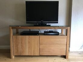 Next Brooklyn Oak and Glass Sideboard
