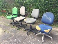 FREE 4 x OFFICE CHAIRS - FREE