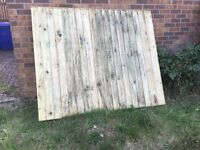 Ridgeons Heavy Duty Framed Close Board Fence Panel Green Treated 1.5m x 1.83m