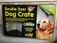 Dog Crate. Double Door. Size 4. Brand New in box.