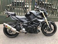suzuki gsr 750 road legal titanium slip on exhaust cost £635 new