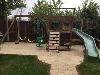 Childrens kids play frame & playhouse & slide