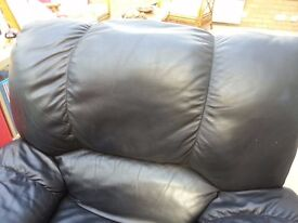 Black Recliner Leather Armchair (from Argos) - Collection Only