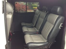 Vw transporter T5 kombi (combi) rear leather seats 2+1