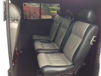Vw transporter T5 kombi (combi) rear leather seats 2+1