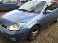 Ford Focus 1.6 petrol manual blue 2003 breaking for parts / spares