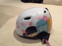 Girls ski helmet, goggles, boots, socks, base layers and gloves