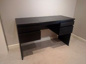 Dressing table + Stool - IKEA RANSBY + INGOLF - Black brown - Excellent condition