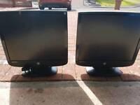 """19"""" computer monitors x2"""
