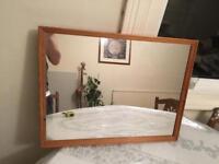 Medium pine mirror
