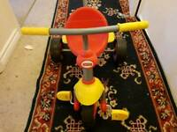 Fisher Price Smart Trike 2 in 1 Stroll to Ride Trike - Red & Yellow