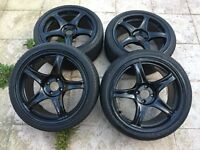 "ROTA wheels with good tyres 4x100 17"" black"