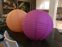 Large Paper Lanterns x 35