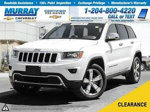 2016 Jeep Grand Cherokee Limited *Leather Heated Seats, All Whee