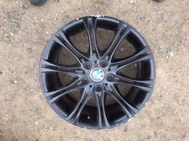 "17"" GENUINE BMW M SPORT ALLOY WHEEL BLACK. ONE WHEEL ONLY"