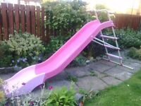 Large pink slide / chute (sturdy, galvanised steel) Good condition