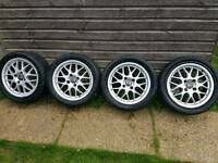 Volvo S40 V40 Sport BBS Crater Alloy Wheels and Tyres