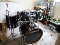 yamaha raydeen black drum kit