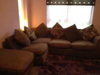 Brown corner sofa, excellent clean condition £80 Ono bargain!