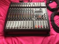Behringer PMP 4000 800watt Stereo Powered Mixer and Peavey Speakers PA System