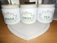 Tea, Coffee & Sugar Canisters