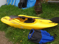 Kayak, spray deck and paddle for sale, £200 the lot!