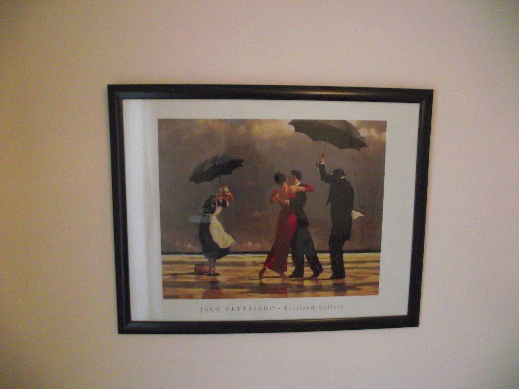 Large Framed Jack Vettrianno Singing Butler Print