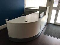 Large white Reception Desk