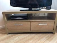 Oak Tv Unit / bookcase / box shelves / 4 x Straight Shelves