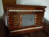 Vintage Snooker/Billiards Life Pool Roller Scoreboard