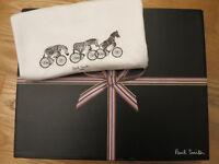 Paul Smith cycling zebra print men's white t-shirt, medium / small; + box