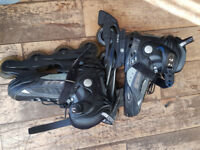 inline roller skates - small adult - used 3 times! (size 4 to 7 UK)