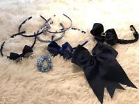 Navy blue school hair accessories