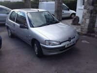 2000 Peugeot 106. 1100cc. MOT Nov 16. Great little car for just £250.