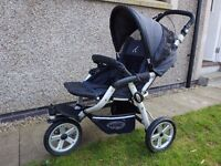 Jane Slalom Pro Push Chair with Rain cover and Jane Cosy Toes Sleeping Bag