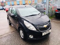 CHEVROLET SPARK 1.0 LS PETROL MANUAL 5 DOORS HATCHBACK BLACK 2011 FULL HISTORY 1 OWNER AIRCON