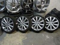 "set of newly refurbished 17"" suzuki swift alloys mint cond & 195 x 17 new contis all round £300"