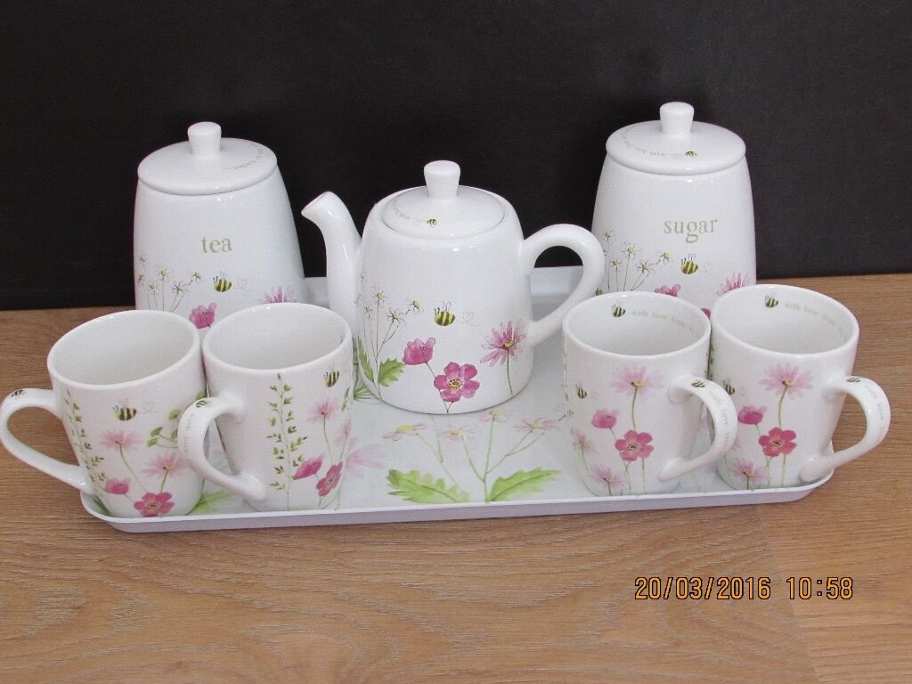 with love from my kitchen tea set and mugs in hucknall nottinghamshire gumtree. Black Bedroom Furniture Sets. Home Design Ideas