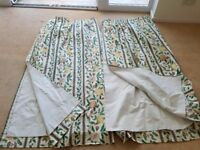 Three Pairs of Quality Curtains including Sanderson Botanical