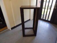 "Large free standing 24U 19"" Corner Studio Rack Cabinet"