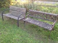 2 x garden benches