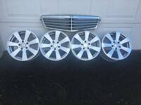 Genuine Mercedes grill & alloy wheels