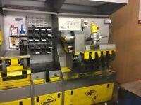 Standard shoe repair work station machine
