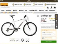 Carrera Valour 2015 men's mountain bike £150 rrp £400