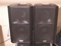 PAIR OF QSC K12 POWERED SPEAKERS + PAIR OF EV ZXA1 POWERED SUBS IN PERFECT CONDITION £1800 .