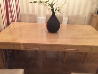 Dining table, wood effect, seats 6