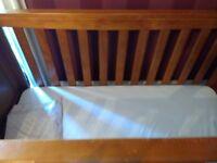 real wood cot bed